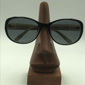 Elizabeth Arden Black Oval Sunglasses Frames